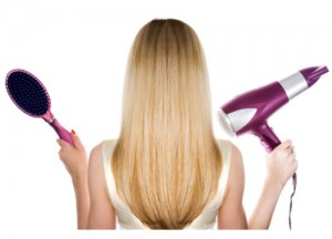 blow-drying